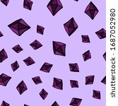 purple crystals and rubies on a ... | Shutterstock .eps vector #1687052980