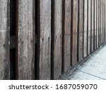 Old Wooden Fence. Separate And...