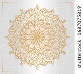 circular pattern in form of... | Shutterstock .eps vector #1687075819