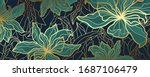 luxury wallpaper design with... | Shutterstock .eps vector #1687106479