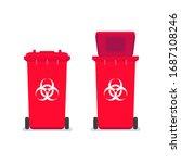 medical waste bin. contaminated ...   Shutterstock .eps vector #1687108246
