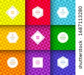bright triangle patterns. set... | Shutterstock .eps vector #1687113280