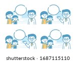 medical illustration with... | Shutterstock .eps vector #1687115110