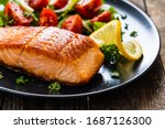 Fried Salmon Steaks With...