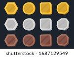 set of monet cartoon icons.... | Shutterstock .eps vector #1687129549