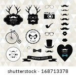 hipster style elements  icons... | Shutterstock .eps vector #168713378