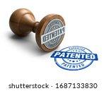 Patented Stamp. Wooden Round...