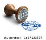 Original Stamp. Wooden Round...