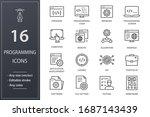 programming line icons. set of...   Shutterstock .eps vector #1687143439
