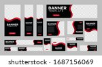 set of creative web banners of... | Shutterstock .eps vector #1687156069