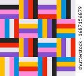 abstract geometric retro... | Shutterstock .eps vector #1687156879