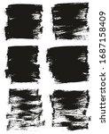 flat paint brush thin half...   Shutterstock .eps vector #1687158409