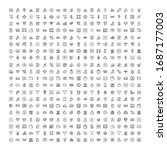finance design icons set. thin... | Shutterstock .eps vector #1687177003
