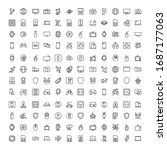 electronics set line icons in... | Shutterstock .eps vector #1687177063