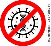 symbol attention coronavirus ...   Shutterstock .eps vector #1687186369