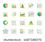 set of  chart for report icon....   Shutterstock .eps vector #1687188370