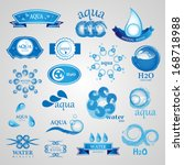 water and drop icons set  ... | Shutterstock .eps vector #168718988