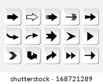 illustration of arrow button... | Shutterstock .eps vector #168721289