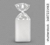bag package mockup. transparent ... | Shutterstock .eps vector #1687221463