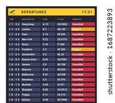 airline industry crisis....   Shutterstock .eps vector #1687223893