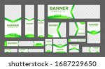 set of creative web banners of...   Shutterstock .eps vector #1687229650