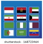 opec flag isolated on the white ... | Shutterstock .eps vector #168723464