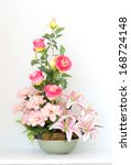 colorful bunch of flowers in... | Shutterstock . vector #168724148