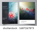 vector layout of a4 cover... | Shutterstock .eps vector #1687267873