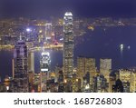 hong kong city skyline panorama ... | Shutterstock . vector #168726803