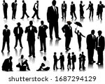 office people silhouettes b y...   Shutterstock . vector #1687294129