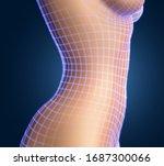 vector female body on color...   Shutterstock .eps vector #1687300066