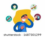 a man infected with pandemic...   Shutterstock .eps vector #1687301299