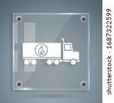 white tanker truck icon... | Shutterstock .eps vector #1687322599