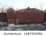 Large Closed Wooden Gate Made...