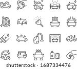 set of car washing icons ... | Shutterstock .eps vector #1687334476