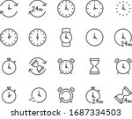 set of time icons  clock  watch ... | Shutterstock .eps vector #1687334503