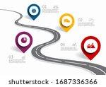 infographic design template...   Shutterstock .eps vector #1687336366