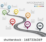 infographic design template...   Shutterstock .eps vector #1687336369