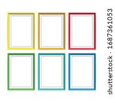 set of colorful wooden frames.... | Shutterstock .eps vector #1687361053