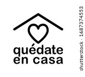stay home icon in spanish...   Shutterstock .eps vector #1687374553