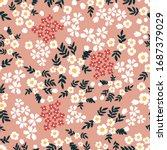 summer meadow. trendy fabric... | Shutterstock .eps vector #1687379029