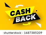cash back banner. vector... | Shutterstock .eps vector #1687385209