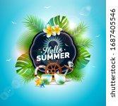 vector hello summer holiday... | Shutterstock .eps vector #1687405546