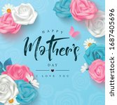 happy mother's day template... | Shutterstock .eps vector #1687405696
