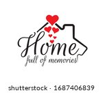 home full of memories  vector.... | Shutterstock .eps vector #1687406839