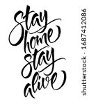 stay home stay alive. vector... | Shutterstock .eps vector #1687412086