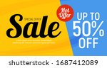 abstract sale banner background....   Shutterstock .eps vector #1687412089