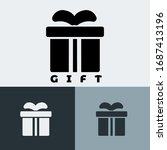 icon gift with style glyph