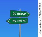 green road signs with 'go this... | Shutterstock .eps vector #1687435720