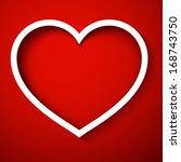 happy valentine's day white cut ...   Shutterstock . vector #168743750